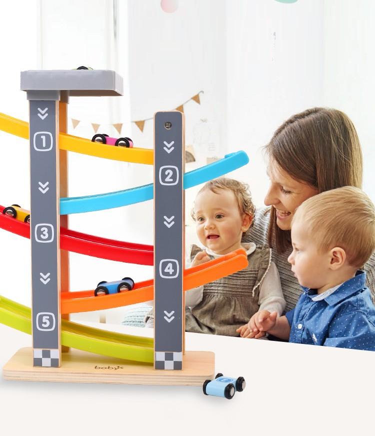 Bộ đồ chơi thả trượt xe 5 tầng Boby