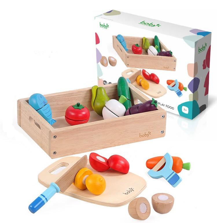 Bộ đồ chơi cắt hoa quả gỗ Boby
