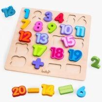 bảng gỗ chữ số