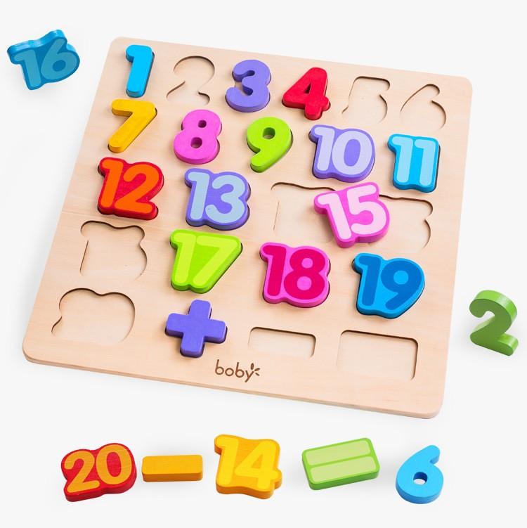 Bảng gỗ chữ số Boby