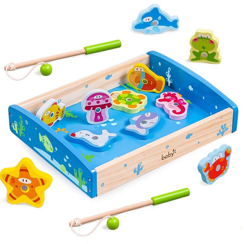 Bộ đồ chơi câu cá gỗ Boby